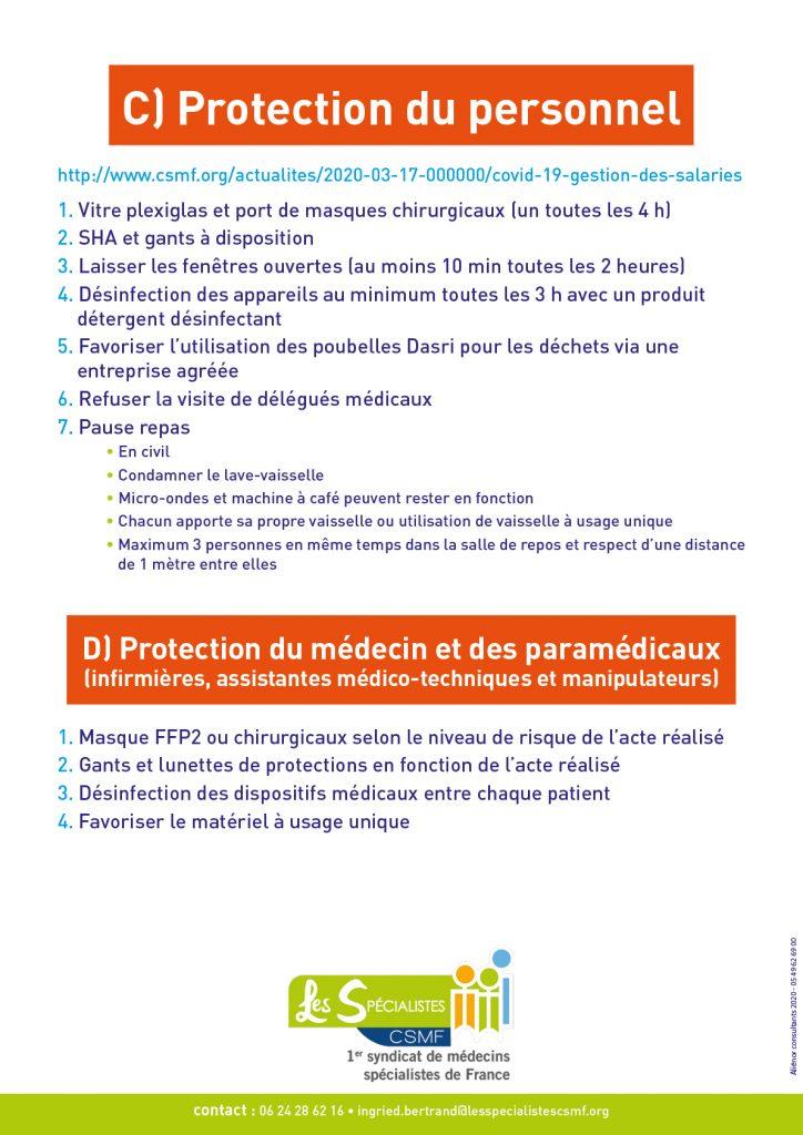 COVID-19 fiche 4 précautions
