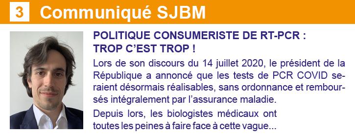 CP SJBM Newsletter 24 septembre Les Spécialistes CSMF