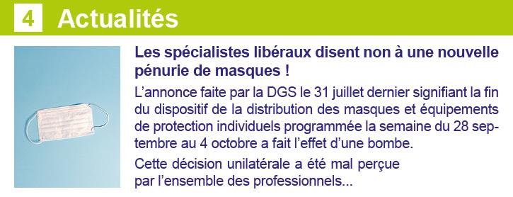 Actus Newsletter 24 septembre Les Spécialistes CSMF